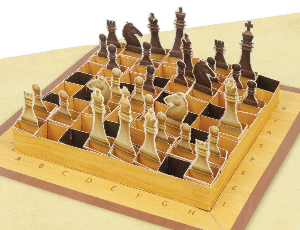 Pop Up Portable Chess Set